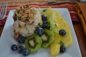 Bircher muesli with organic fresh fruit