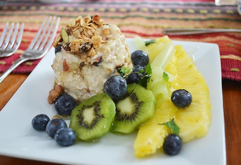 Cape Cod Breakfast oats and fruit