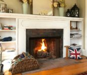 Parsonage Inn fireplace