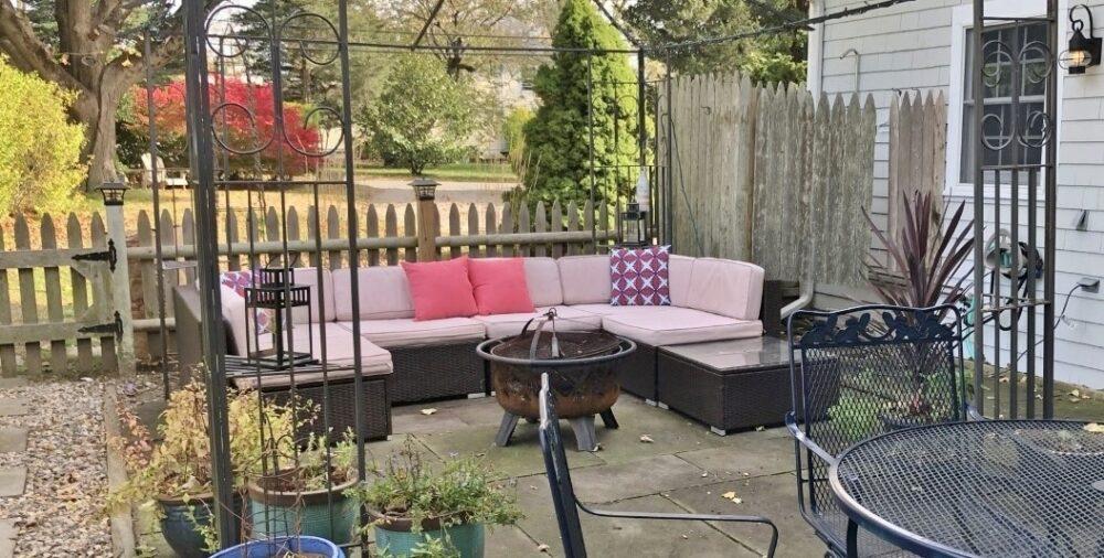 patio at parson's cottage