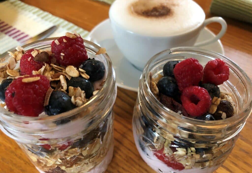 Fresh berries, homemade granola and organic yogurt, perfect start to the day