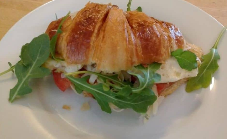 Warm filled savory croissant at the Parsonage Inn